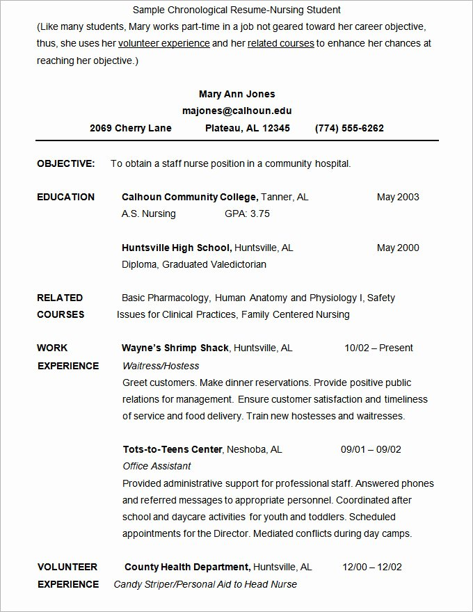 Nursing Student Resume Template Word Elegant Microsoft Word Resume Template 49 Free Samples