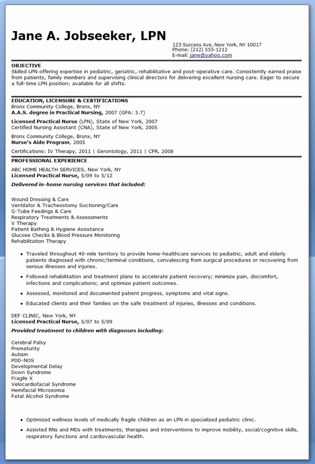 Nursing Student Resume Template Word Fresh Sample Lpn Resume Objective