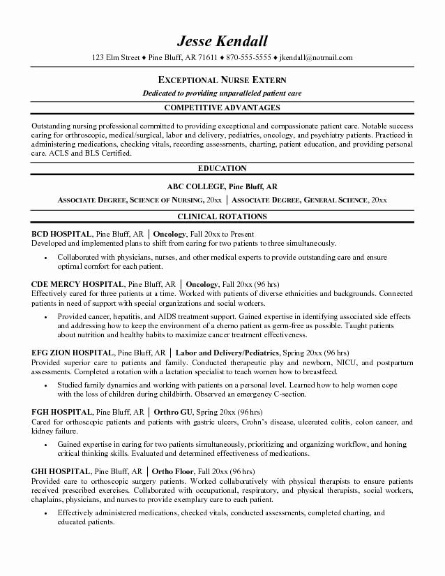 Nursing Student Resume Templates Unique Nursing Student Resume Examples Helping Nursing Students