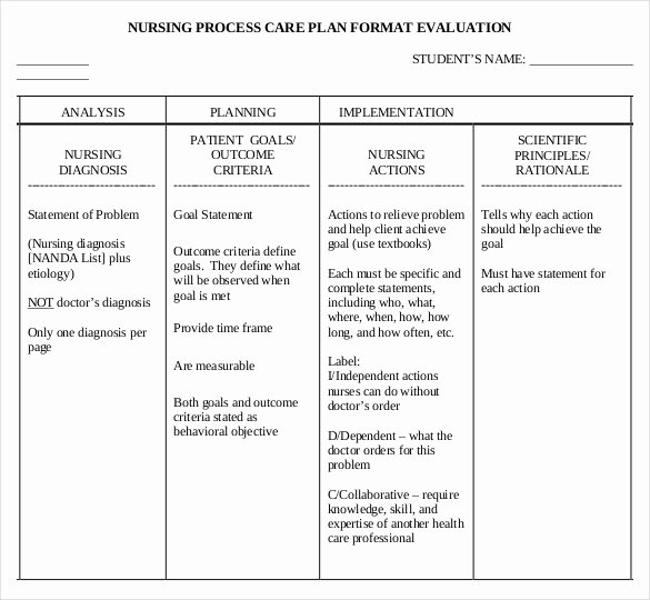 Nursing Teaching Plan Template Awesome Nursing Care Plan Template