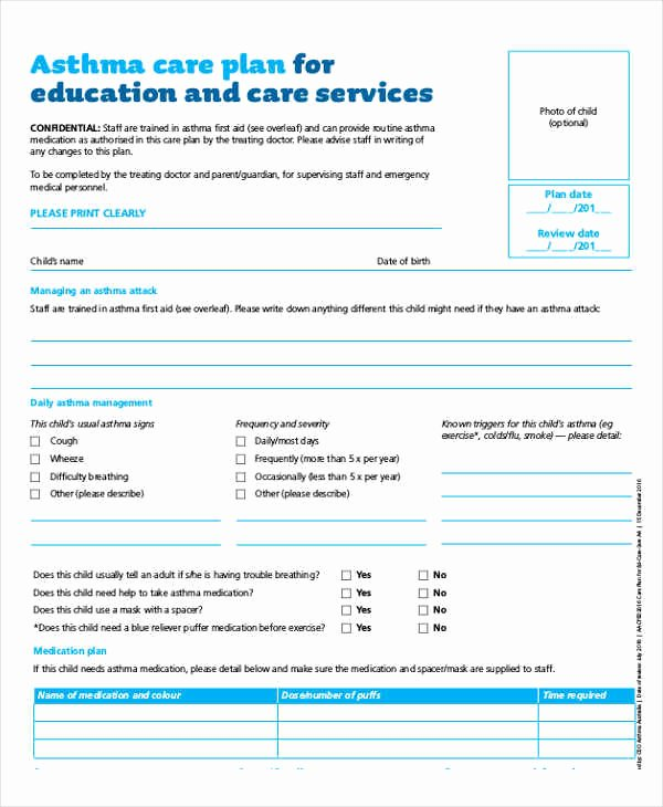Nursing Teaching Plan Template Beautiful ️ Care Plan for asthma Patient Delivery Of asthma Education During Patient Visits 2019 01 25