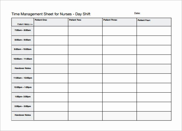 Nursing Time Management Sheet Lovely 5 Nursing Schedule Templates Word Pdf Excel Google