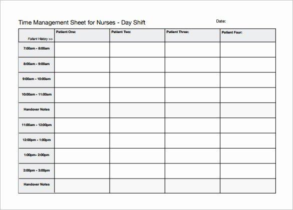 Nursing Time Management Sheet Lovely 5 Nursing Schedule Templates Word Pdf Excel Google