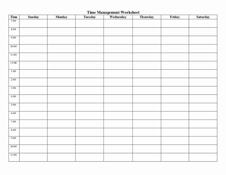 Nursing Time Management Sheets Elegant Time Management Worksheets
