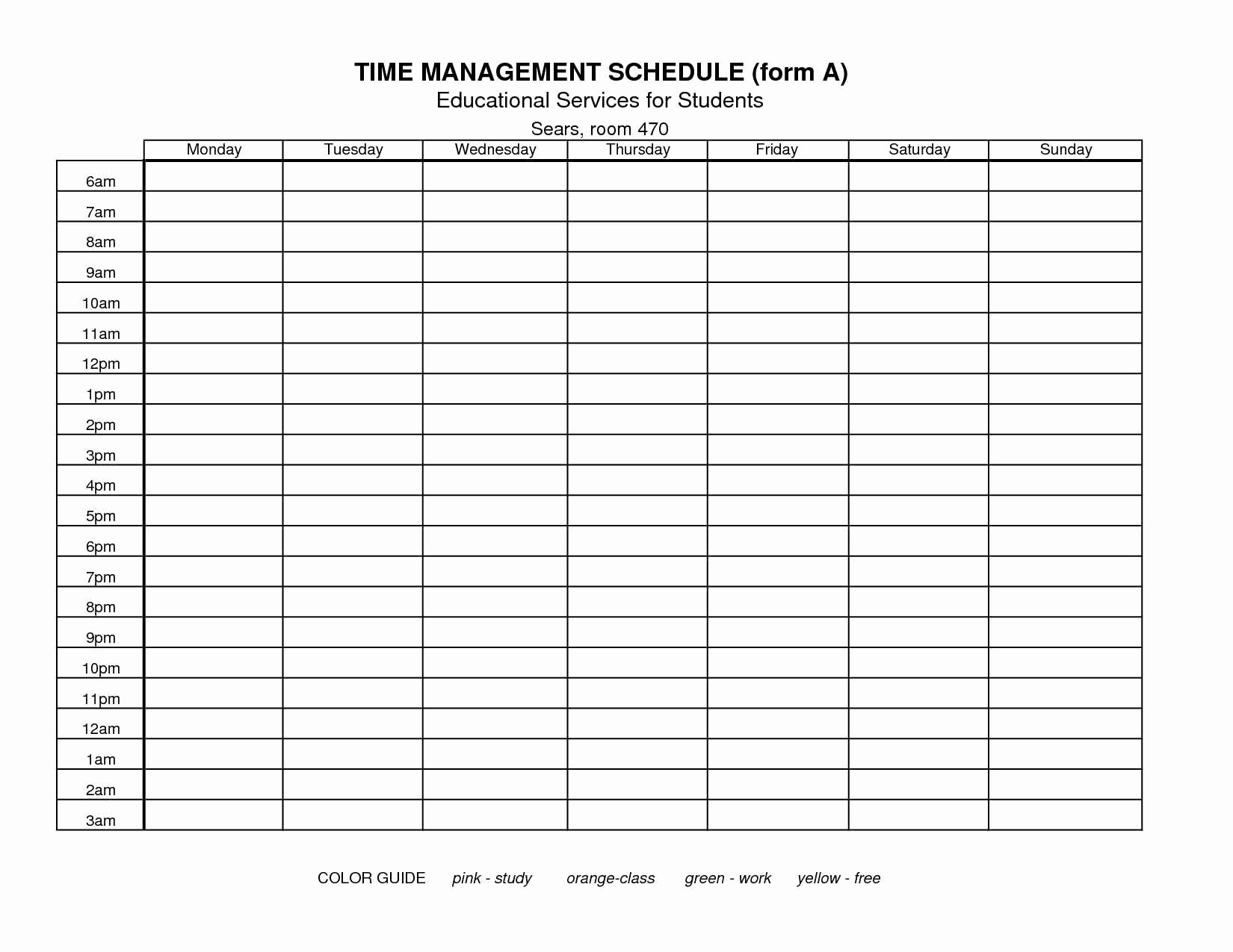 Nursing Time Management Sheets Luxury Time Management Templates