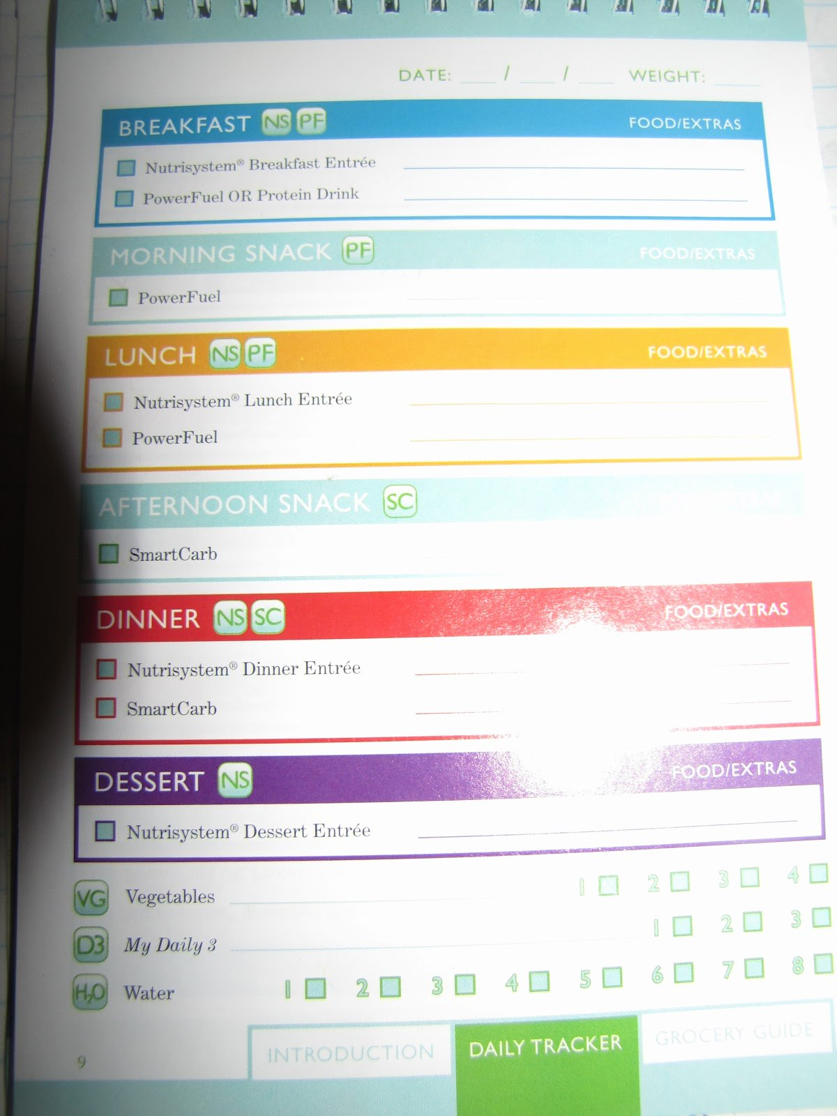 Nutrisystem Meal Planner Download New My Nutrisystem Experiment Nutrisystem Daily Tracking Page Review