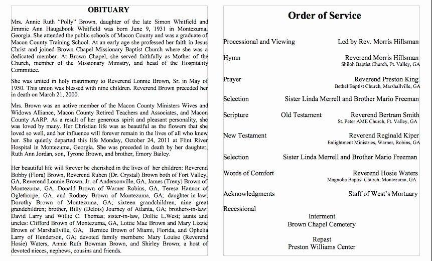 Obituary Sample for Mother Elegant Obituary Sample Template