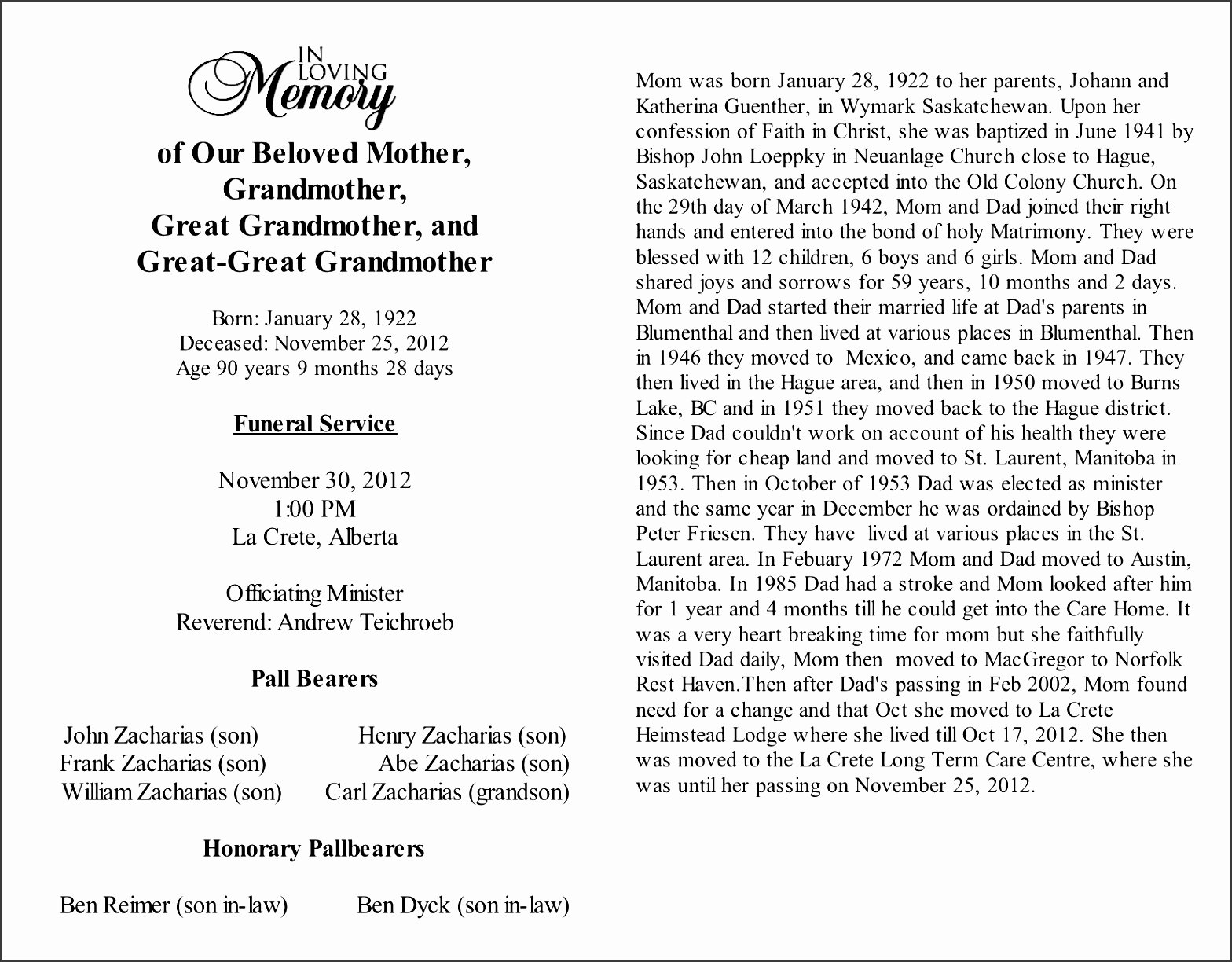 Obituary Sample for Mother Inspirational 9 Obituary Template Sampletemplatess Sampletemplatess