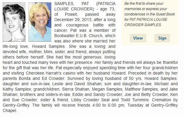 Obituary Sample for Mother Inspirational News Page