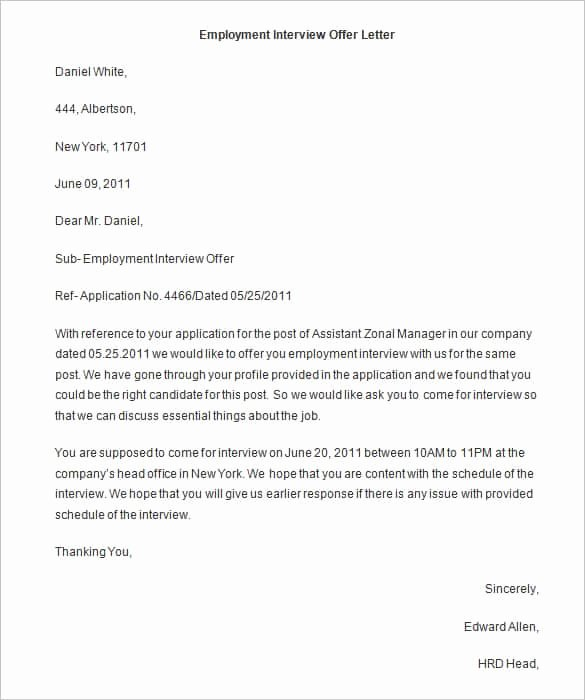 Offer Letter for Contract Employee Awesome 75 Fer Letter Templates Pdf Doc