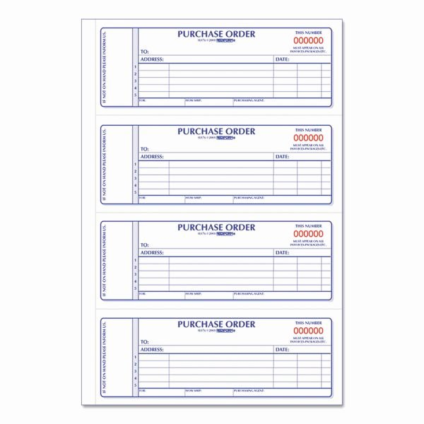 Office Supply order form Beautiful Rediform Purchase order Book 7 X 2 3 4 Two Part Carbonless 400 Sets Book