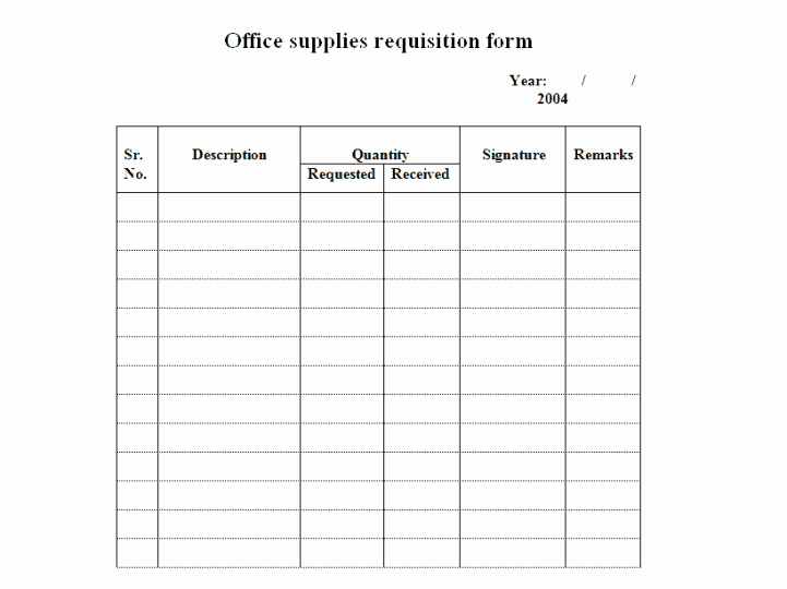 Office Supply order form Fresh 4 Requisition form Templates Excel Xlts