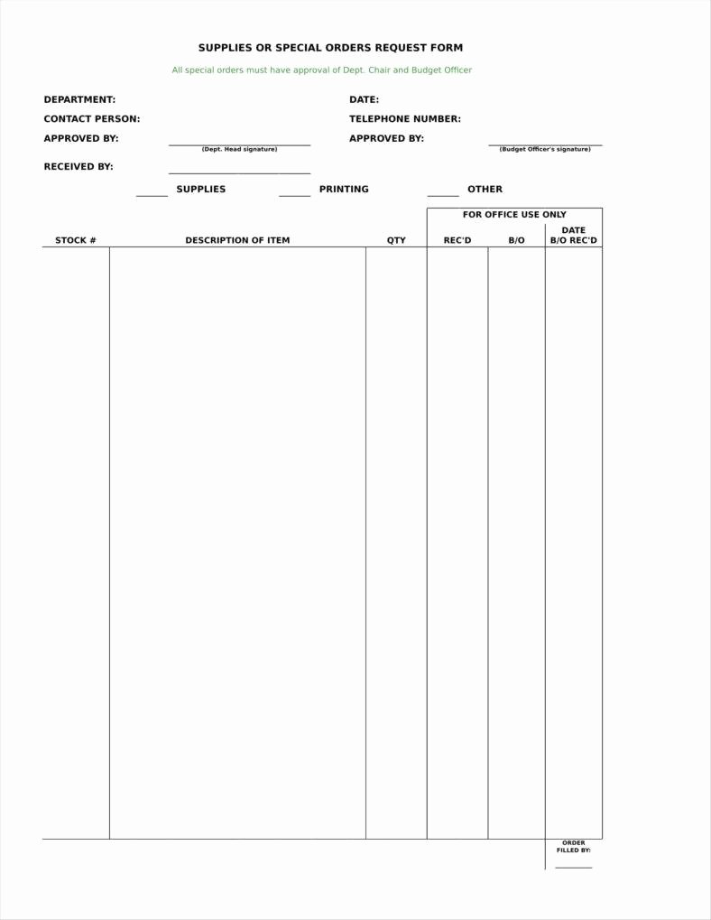 Office Supply order form Unique 9 Equipment order form Templates Free Pdf Excel format Download