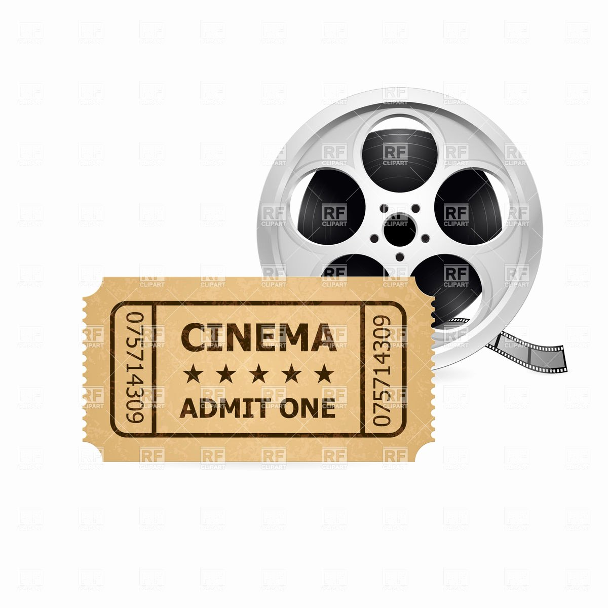 Old Fashioned Movie Ticket Fresh Retro Cinema Ticket and Film Reel Vector Image Of Objects © Dvarg 6465 – Rfclipart
