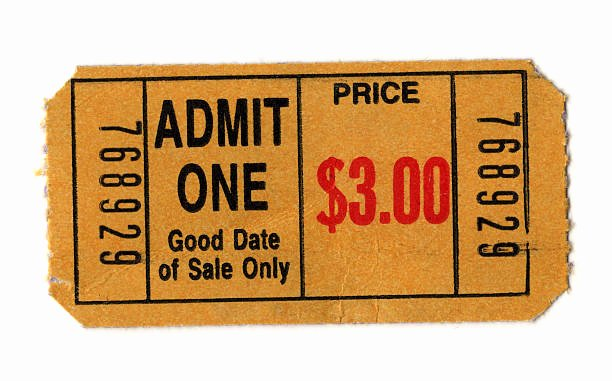 Old Fashioned Movie Ticket Luxury Best Ticket Stub Stock S & Royalty Free istock