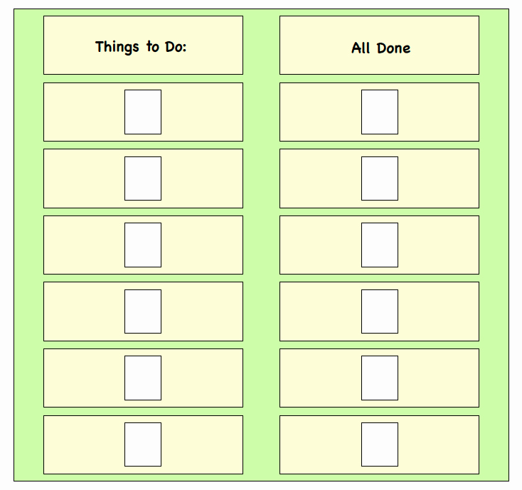 On Task Behavior Chart Awesome Visual Supports Things to Do Board Task Pletion Board This Can Be Done On A Wall at Home