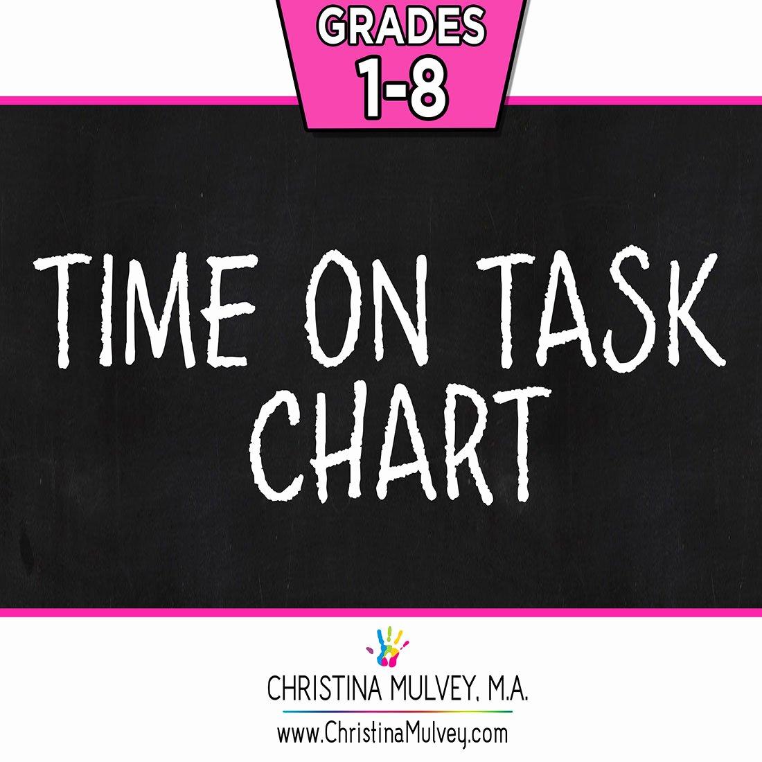 On Task Behavior Chart Lovely Time On Task Behavior Chart Christina Mulvey