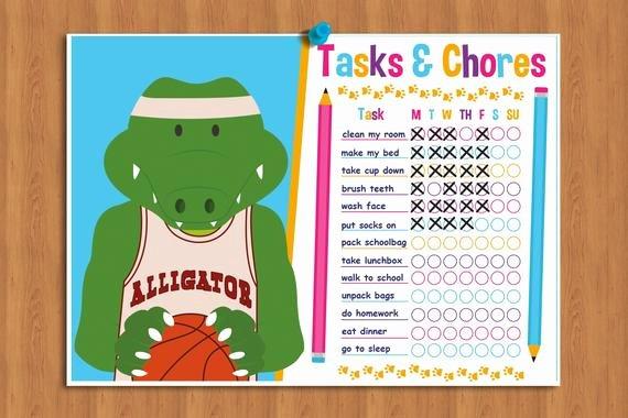 On Task Behavior Chart New Printable Kids Chore Chart Behavior Chart Kids Task List