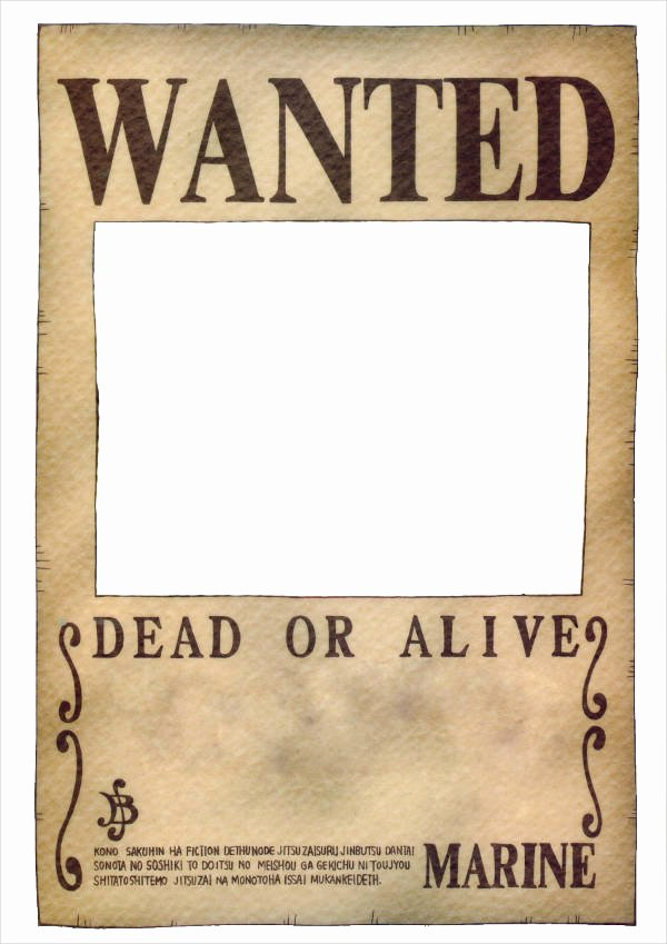 One Piece Wanted Poster Maker Best Of 18 Wanted Poster Design Templates In Psd