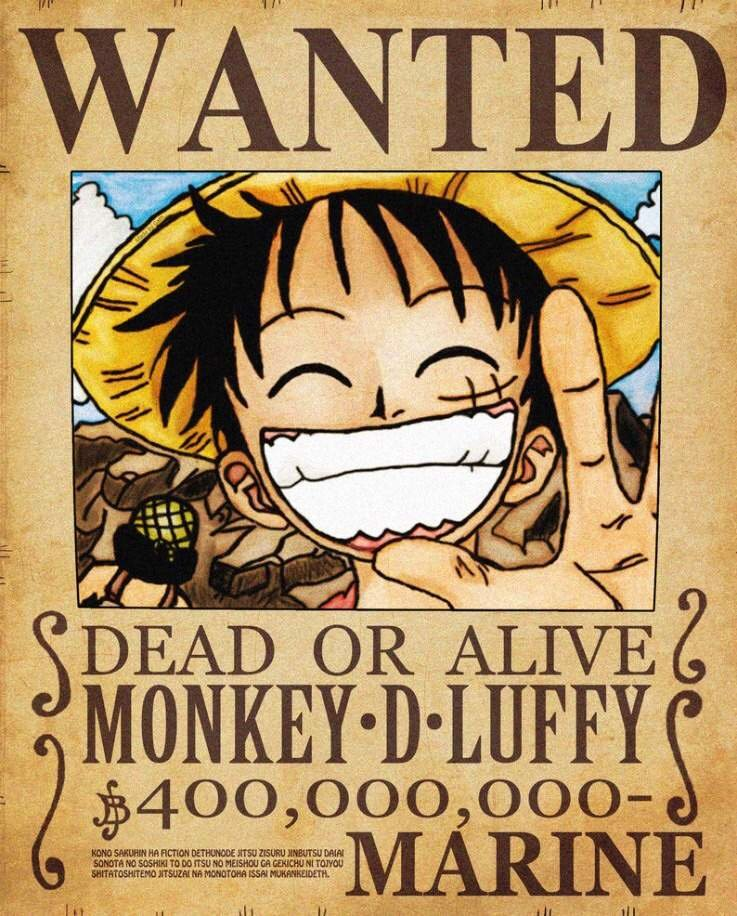 One Piece Wanted Poster Maker Fresh Monkey D Luffy