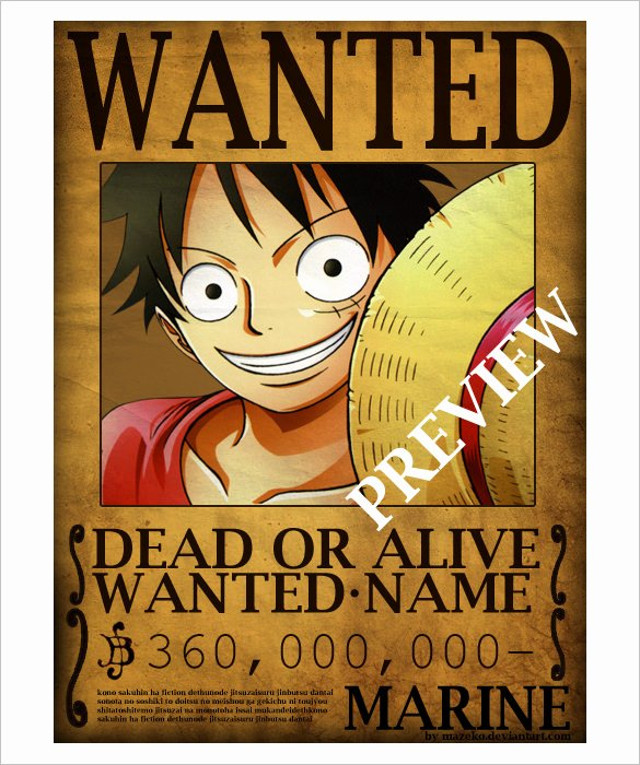 One Piece Wanted Poster Maker Fresh Wanted Poster Template 34 Free Printable Word Psd Illustration Indesign Excel Pub Pdf
