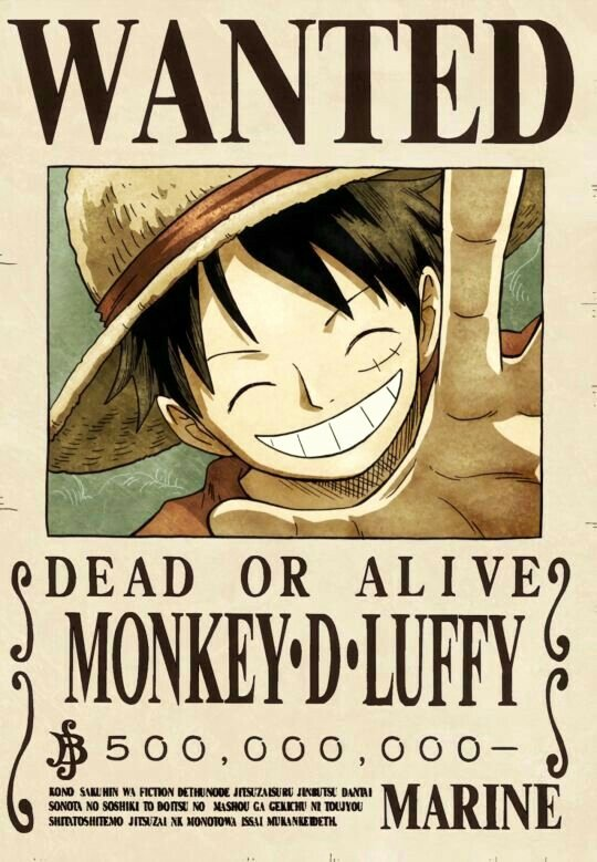 One Piece Wanted Poster Maker Lovely Wanted Poster Monkey D Luffy Text E Piece E Piece ワンピース Pinterest