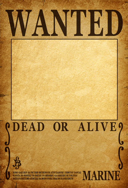 One Piece Wanted Poster Maker New E Piece Wanted Poster Template Free Download Aashe