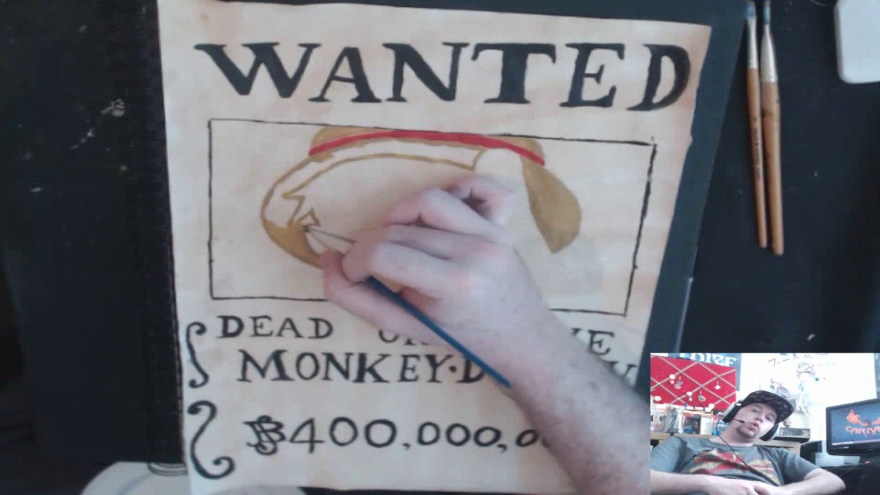 One Piece Wanted Poster Maker Unique How to Make Luffy Wanted Poster [ E Piece Art]