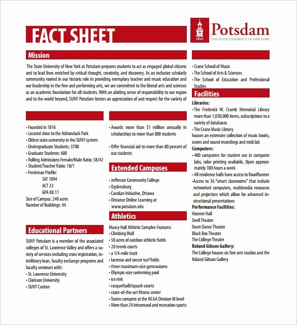 One Sheet Template Free Inspirational Fact Sheet Template – 15 Free Word Ppt Pdf Documents Download