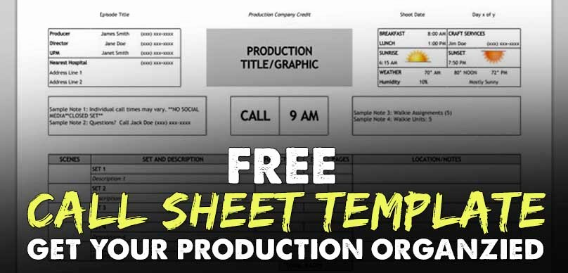 One Sheet Template Free Inspirational Free Download Call Sheet Template the Ly E You Ll Ever Need