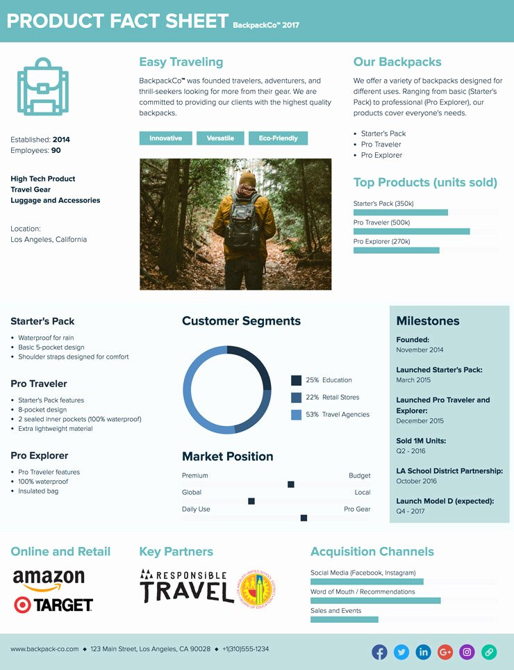 One Sheet Template Free Lovely How to Create A Fact Sheet A Step by Step Guide