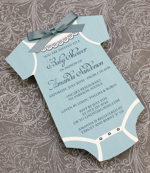 Onesie Baby Shower Invitations Template Beautiful Baby Shower Invitation Template Boys Sie – Download & Print