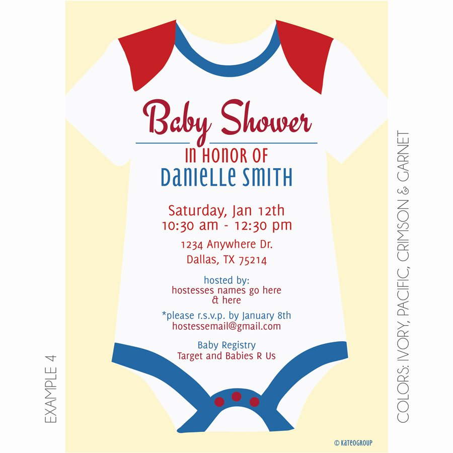 Onesie Baby Shower Invitations Template Beautiful Esie Baby Shower Invitation