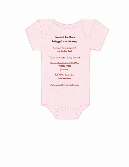 Onesie Invitation Template Printable Beautiful Printables Invitations Templates Samples Esie Baby Shower Invitation