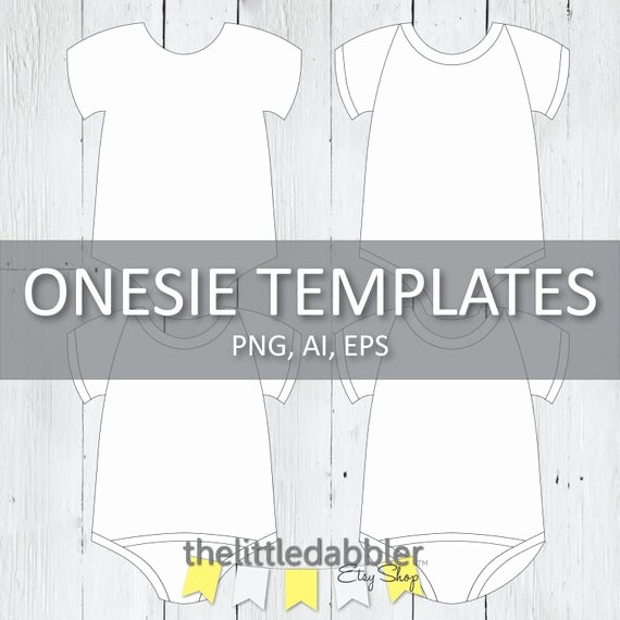Onesie Invitation Template Printable Lovely Baby Esie E Piece Templates Printable by thelittledabbler