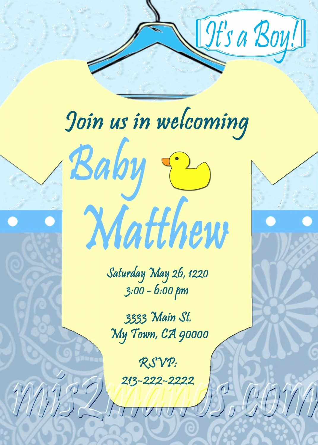 Onesie Invitation Template Printable New Baby Shower Esie Invitations Printable Baby Boy Custom order Party Diy Download and Print