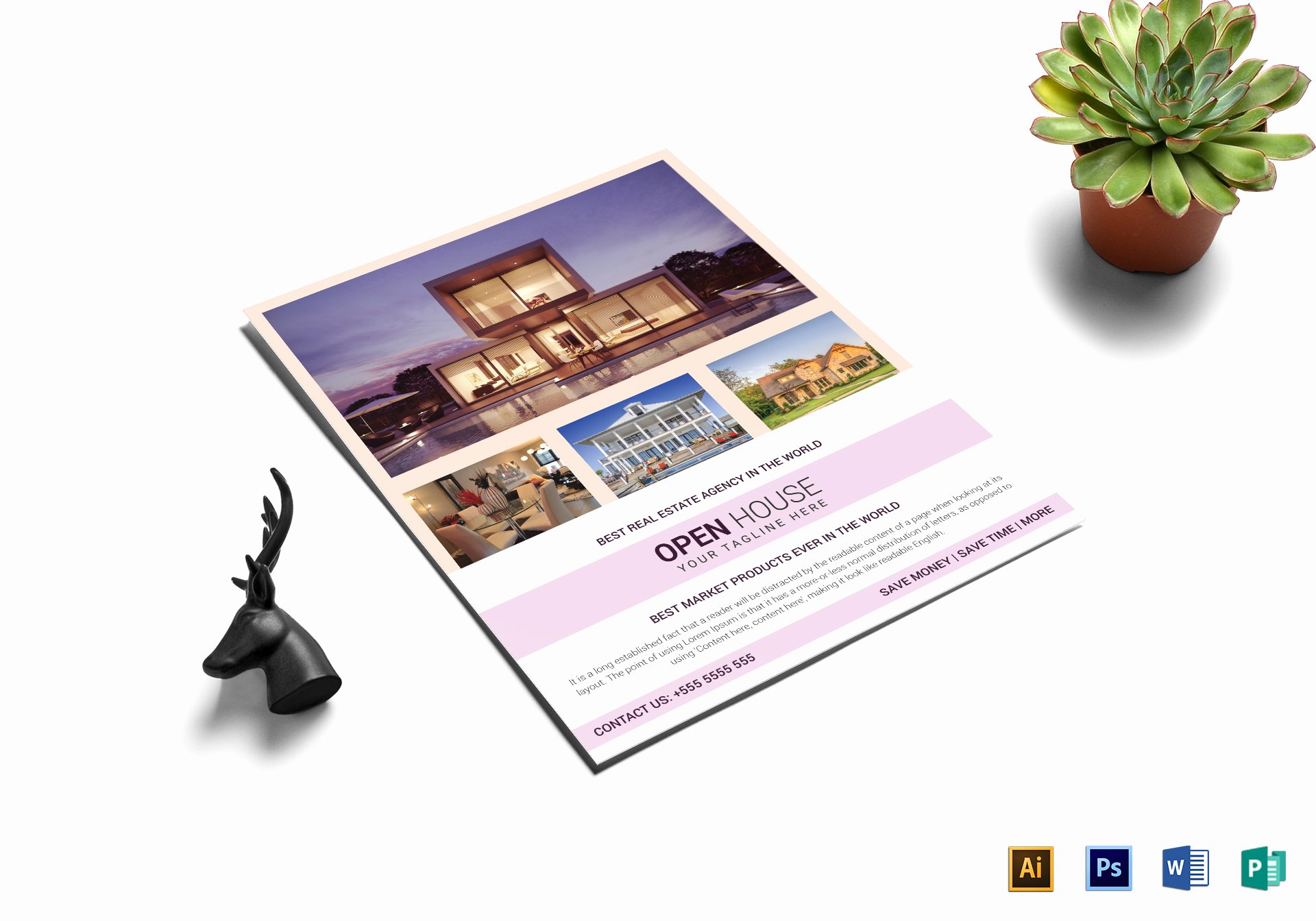 Open House Flyer Template Word Awesome Real Estate Agency Open House Flyer Design Template In Word Psd Publisher