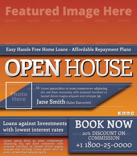 Open House Flyer Template Word Beautiful 42 Open House Flyer Templates Word Psd Ai Eps Vector