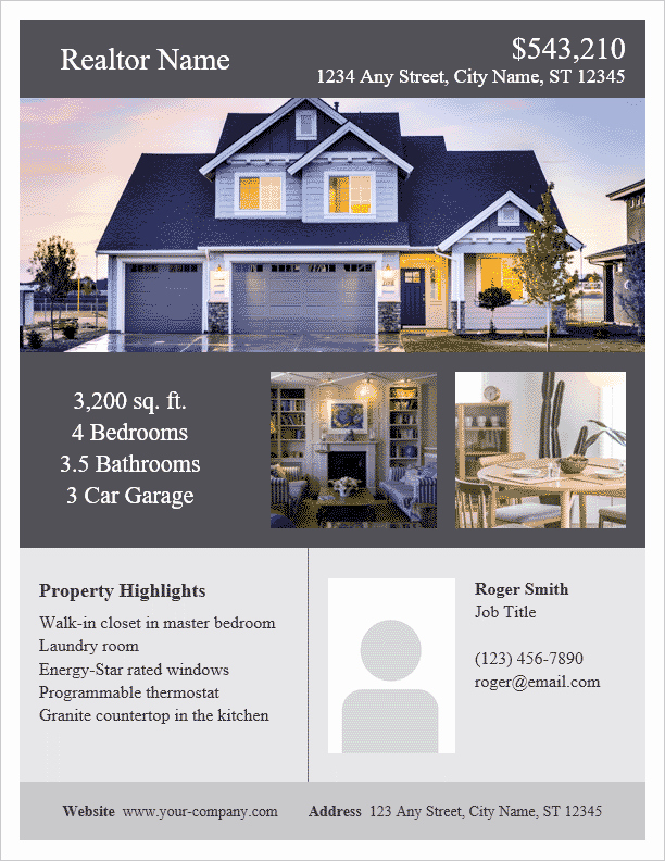 Open House Flyer Template Word Beautiful Real Estate Flyer Template for Word