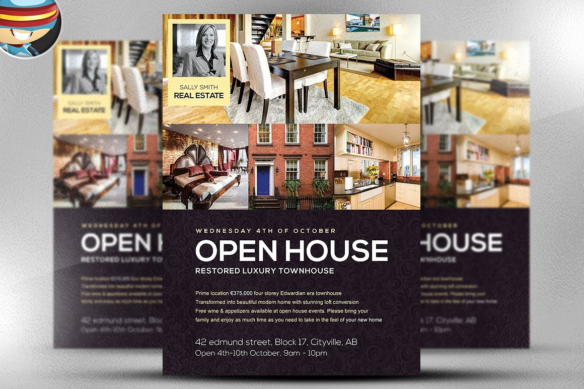 Open House Flyer Template Word Best Of Open House Flyer Template Flyer Templates Creative Market