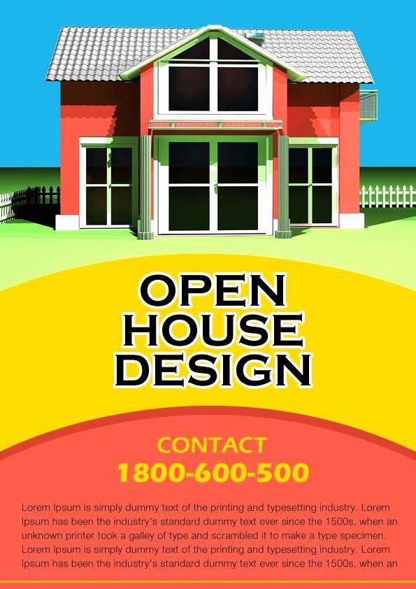 Open House Flyer Template Word Inspirational Free Real Estate Open House Flyer Templates Open House Flyer Ideas