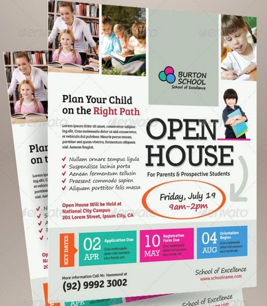 Open House Flyer Template Word Inspirational School Open House Flyer Template Open House Flyer Ideas