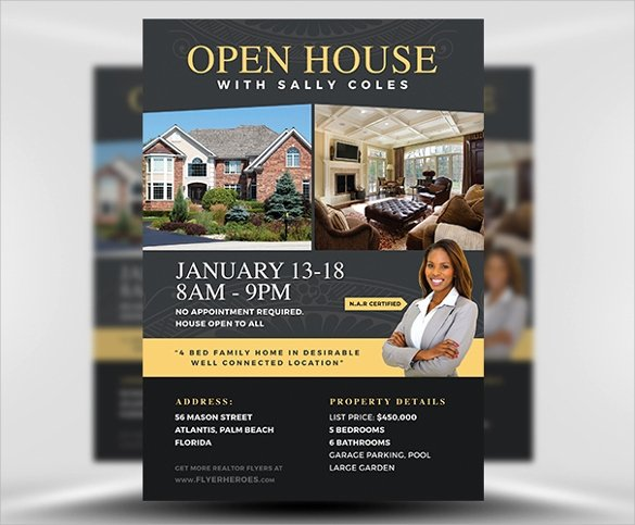 Open House Flyer Template Word Luxury 23 Open House Flyers Word Ai Psd Eps Vector
