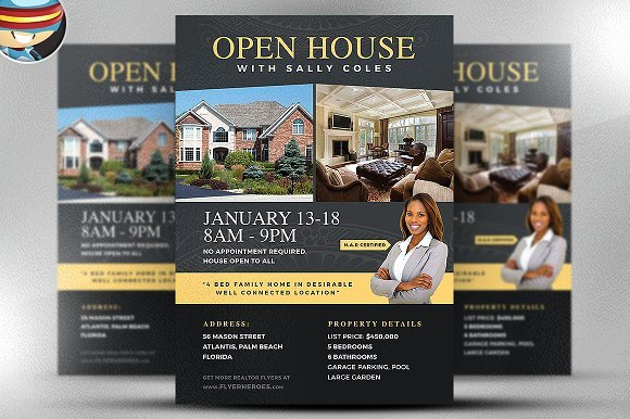 Open House Flyer Template Word Unique Open House Flyer Template 2 Flyer Templates Creative Market