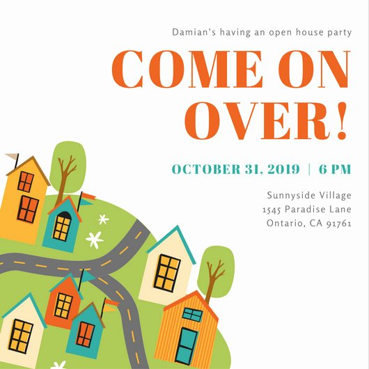 Open House Invitation Template Free Best Of Customize 498 Open House Invitation Templates Online Canva