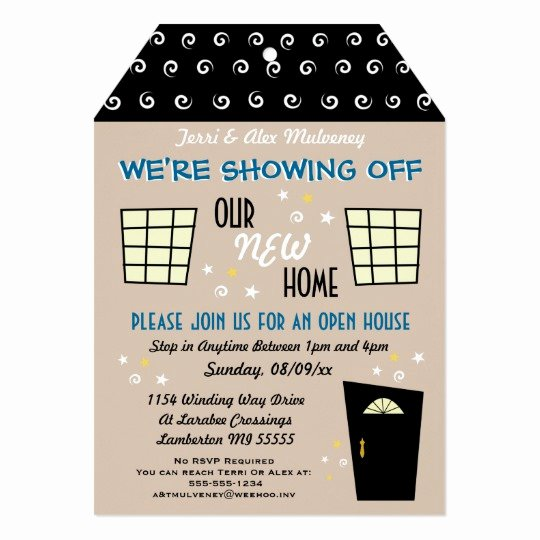 Open House Invitation Template Free Best Of Whimsical Tag Cut Open House Invitation