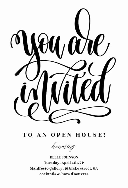 Open House Invitation Template Free Elegant Open House Invitation Templates Free