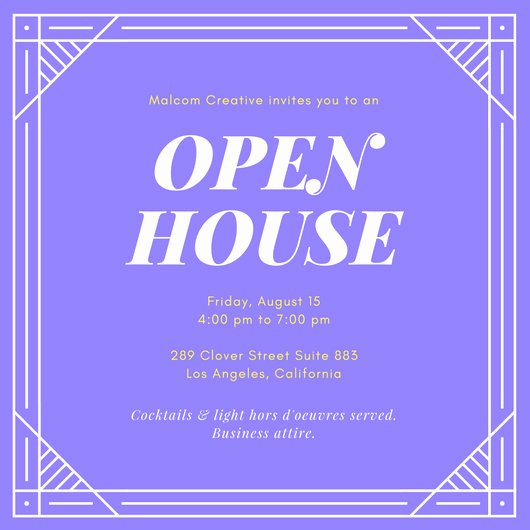 Open House Invitation Template Free Inspirational Customize 127 Open House Invitation Templates Online Canva