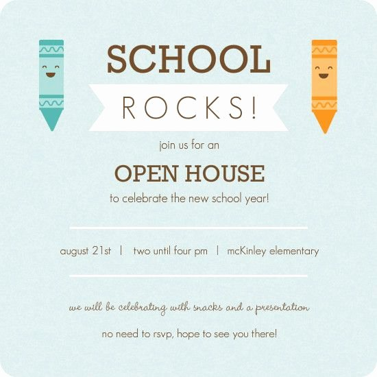Open House Invitation Template Free Lovely Kindergarten Roundup School Materials Inspiration