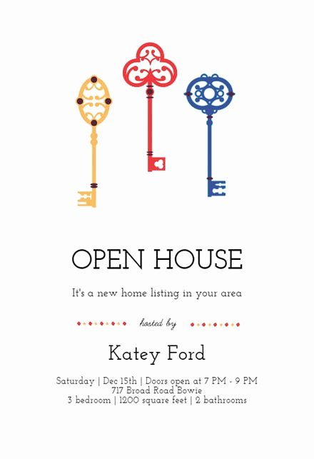 Open House Invitation Template Free Luxury Open House Invitation Templates Free